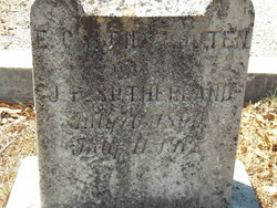 E. Carrie <I>Wooten</I> Sutherland