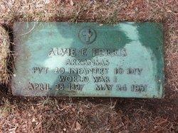 """Alva Earnest """"Alvie"""" Ferris"""