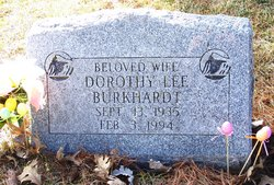 Dorothy Lee <I>Earls</I> Burkhardt