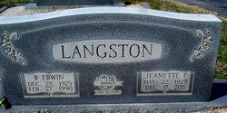 Jeanette <I>Payne</I> Langston