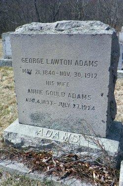 Annie <I>Gould</I> Adams