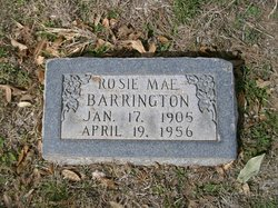 Rosie Mae <I>Mullins</I> Barrington