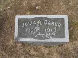 Julia A <I>Sholes</I> Baker