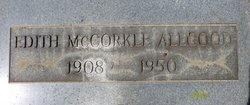 Edith <I>McCorkle</I> Allgood