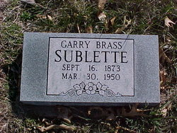 "Garry Bolton ""Brass"" Sublette"