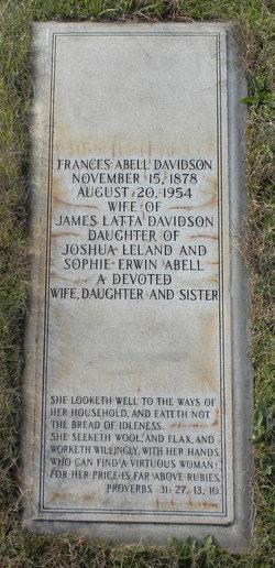 Frances Erwin <I>Abell</I> Davidson