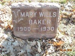 Mary <I>Wills</I> Baker