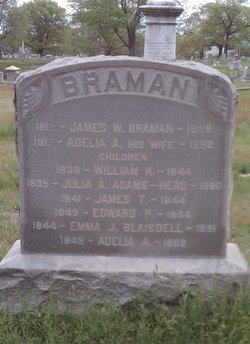 Julia Amanda <I>Braman</I> Adams-Head