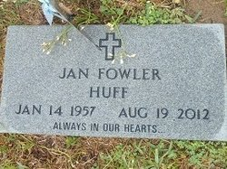 Jan <I>Fowler</I> Huff