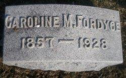 Caroline M. <I>Koehler</I> Fordyce