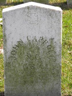 Pvt John Carroll