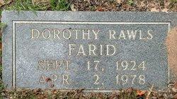 Dorothy <I>Rawls</I> Farid