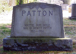 Mattie Sue <I>Hole</I> Patton