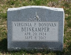 Virginia Frances <I>Donovan</I> Beinkampen