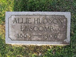 Allie <I>Hudson</I> Lipscomb