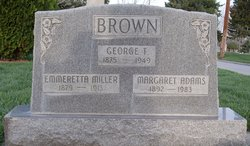 "Emmeretta ""Etta"" <I>Miller</I> Brown"