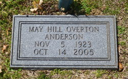 May Hill <I>Overton</I> Anderson