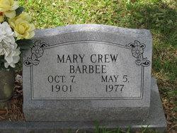 Mary <I>Crew</I> Barbee