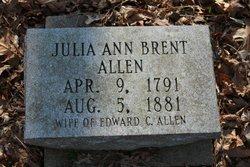 Julia Ann <I>Brent</I> Allen