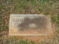 """Elizabeth """"Lizzie"""" <I>Poole</I> Martin"""