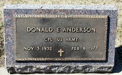 Corp Donald E Anderson