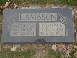 Mary Lucretia <I>Gay</I> Lambson