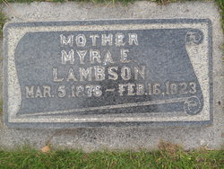 Myra Selsa <I>Jones</I> Lambson