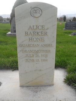 Alice <I>Barker</I> Hone