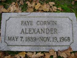 Faye <I>Corwin</I> Alexander