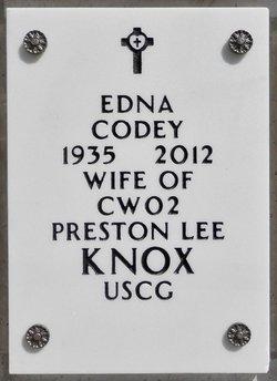 Edna <I>Codey</I> Knox