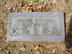 Willie Nadine <I>Bernard</I> Boatwright