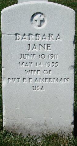 Barbara Jane Amerman
