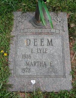 Martha Ellen <I>Miller</I> Deem