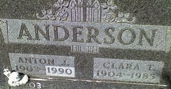 Clara <I>Martinson</I> Anderson