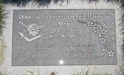 """Anna Margaret """"Gran"""" <I>Parker</I> Hammer"""