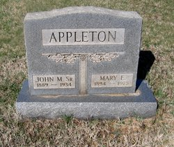 Mary E. <I>Jenkins</I> Appleton