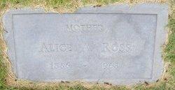 Alice A <I>Wood</I> Ross