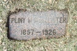 Pliny Wright McAllister
