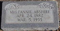 Fannie <I>Rigsby</I> Abshire