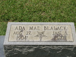 Ada Mae <I>McCaffrey</I> Blalack