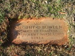 Dorothy D Bowden