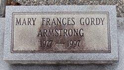 Mary Frances <I>Gordy</I> Armstrong