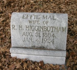 Mrs Effie Mae <I>Noles</I> Higginbotham
