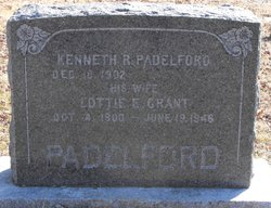 Lottie Everline <I>Grant</I> Padelford