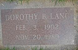 Dorothy Bernice <I>Teague</I> Lang