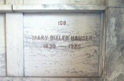 Mary <I>Bixler</I> Hauser