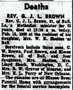 Rev Guy Jasper Lee Brown