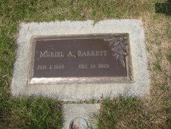 Muriel A <I>Williams</I> Barrett