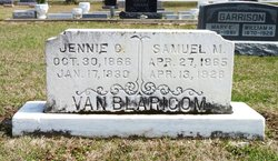 "Jennie Cordelia ""Jane"" <I>Blackburn</I> VanBlaricom"