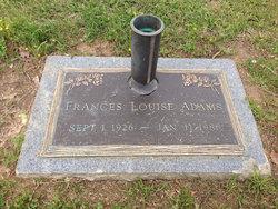 Frances Louise <I>Jones</I> Adams